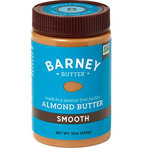 BARNEY Almond Butter, Smooth, No Stir, Non-GMO, Skin-Free, Paleo Friendly, KETO, 16 Ounce