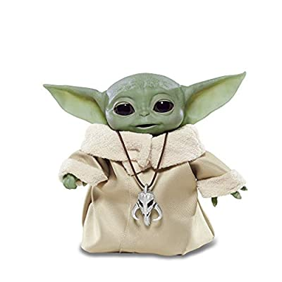 "Star Wars The Child Animatronic Edition ""AKA Baby Yoda"" with Over 25 Sound and Motion Combinations, The Mandalorian Toy for Kids Ages 4 and Up by Hasbro"