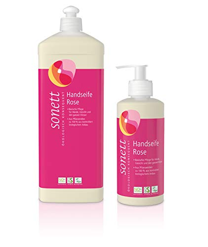 Bio Handseife Rose (2x300ml+1000ml)