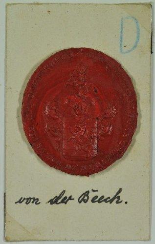 Wappensiegel mit Inschrift: VON DER...