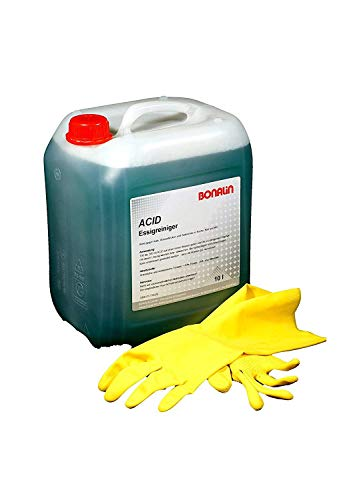 Bonalin Limpiador Multisuperficies de Vinagre Ultra Potente de 10 litros. Elimina eficazmente la cal, manchas de agua y residuos de jabón en cocina y baño. 100% biodegradable