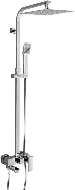 KALRTO Square Shower System, Bathtub Faucet, Bathroom Top Shower Set, Lift Shower Rod, Home Apartment Hotel