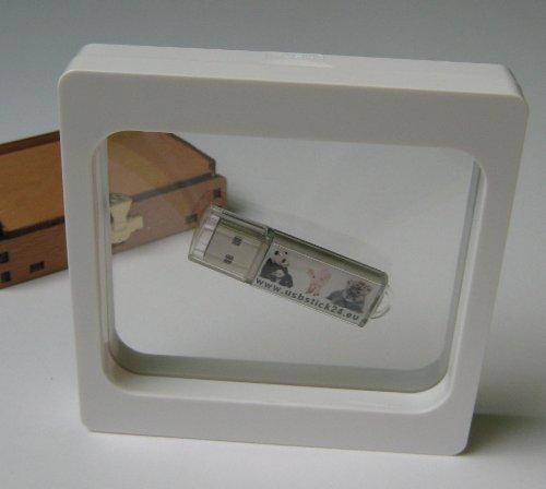 10 Stück Kronenberg24 3D Schweberahmen Objektrahmen weiss 110x110x20mm für Kleinteile