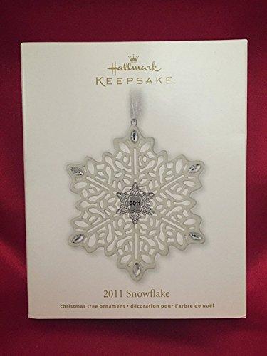 Porcelain Snowflake with Rhinestones Hallmark Keepsake Ornament