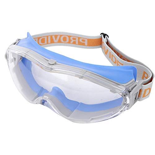 Chanmee Gafas de Bloqueo, Gafas de Seguridad para PC, Anti-Impacto Anti-vaho A Prueba de Polvo Anti-Salpicaduras de Productos químicos Trabajo al Aire Libre Protección de Ojos para la