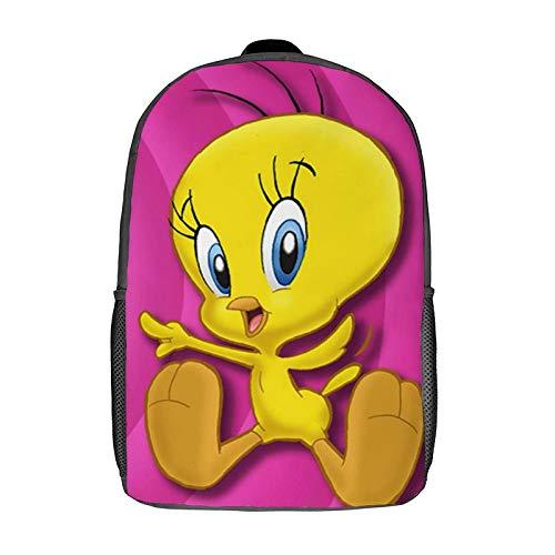 Tweety Bir-d - Bolsa de libros para niñas y mujeres, mochila ligera clásica resistente al agua, mochila plegable para deportes y viajes