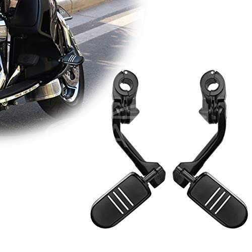 Motorcycle Footpegs Foot Rest Highway Pegs Foot pegs (Black) for Harley Honda Road King Street Glide Suzuki Yamaha Kawasaki Engine Guard