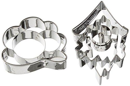 Städter Ausstechform, Edelstahl, Silber, 7 x 5 x 1 cm, 2-Einheiten