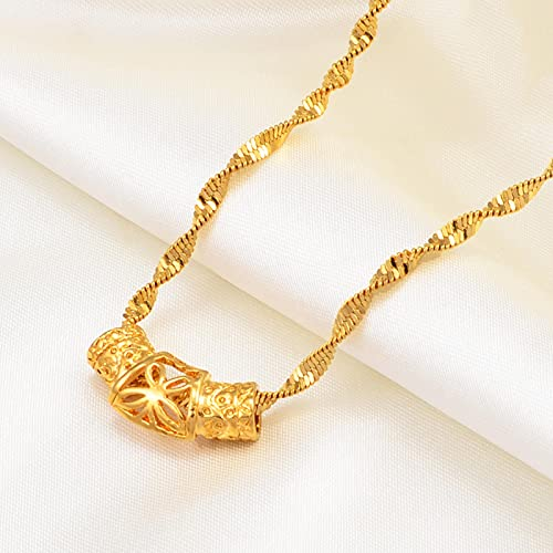 Collar Colgante Cadena Collares Hombre Mujer Collar De Joyería Africana para Mujer, Niña, Frangipani Hawaiano Y Collares con Colgante De Corazón, Regalo De Guam, Colgante De Flores