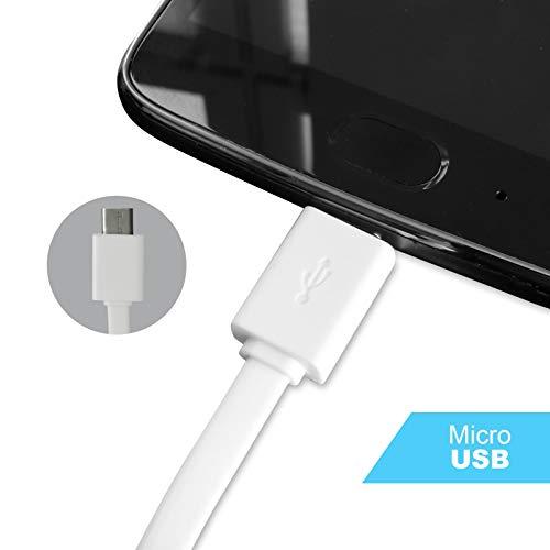 Eaxus® 2er Set 5in1 Multi USB-Kabel - USB-Typ-C, microUSB, 8-Pin, miniUSB Ladekabel