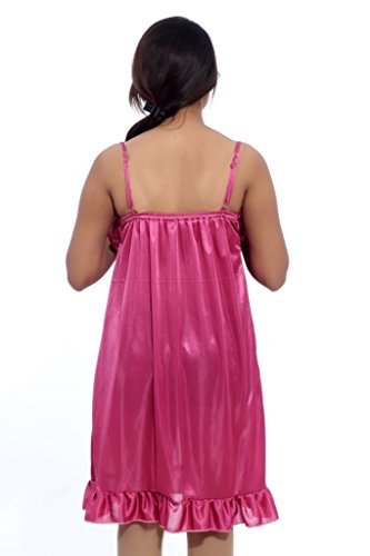 Fabme Women's Baby Doll, Slip, Nighty (Pack of 1) - Pink