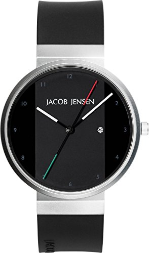 JACOB JENSEN Unisex-Armbanduhr JACOB JENSEN NEW SERIES NO. 702 Analog Quarz Kautschuk JACOB JENSEN NEW SERIES NO. 702