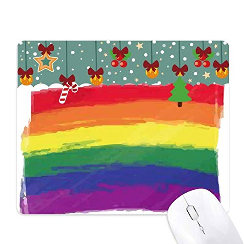 stippelen regenboog gay lesbische lgbt muis pad spel office mat kerst rubber pad