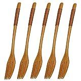 Lot de 5 fourchettes en bois de style japonais vintage pour la...