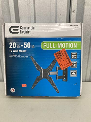 """Commercial Electric XD2473 Full Motion TV Wall Mount For 20"""" - 56"""" TV"""