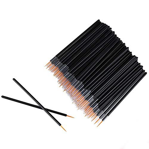 SOLUSTRE 50 Stück Einweg Eyeliner Pinsel Applikator Eyeliner Zauberstab Kosmetische Augenstäbe Eyeliner Make-Up Zubehör (Schwarz)