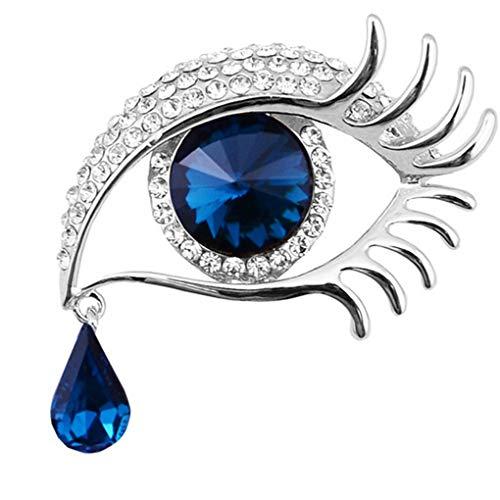 Beaums Mujeres elegantes diamantes de imitación de cristal broches de ojo grande broche de ojo grande broche, cristal hueco ramillete pin ropa decoraciones