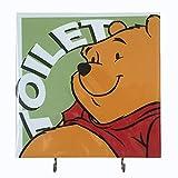 Agility Badezimmer Wand Aufhänger Hat Tasche Schlüssel selbstklebend Holz 2Haken Vintage Grün Winnie the Pooh WC 's Foto