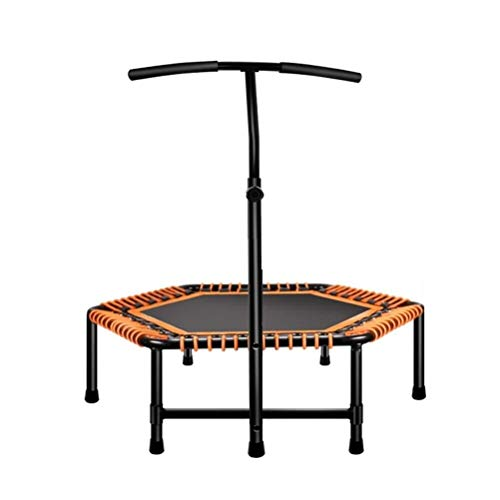 Trampoline Indoor Foldable Rebounder Trampolines Fitness Trampoline, Third Gear Adjust Removable Armrest Rebounder,suitable for Indoor Garden Gymnasium Super Elastic Mute Bouncer Load: 200kg Workout C