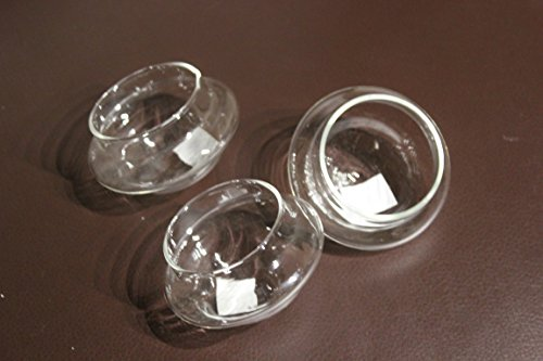 Jodeco Schwimmschale aus Glas im 3er-Set, f.1 Teelicht, Durchm. ca. 6,5 cm, H ca. 4,5 cm