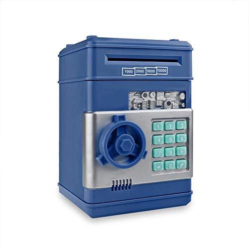 Yuan Ou Hucha Hucha electrónica ATM Contraseña Caja de Dinero Monedas en Efectivo Caja de Ahorro Caja de Seguridad del Banco ATM Depósito automático Azul