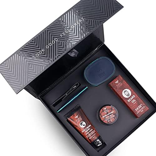 Bombay Shaving Company | Beard Grooming Kit for Men | 6-in-1 Advanced Beard Maintenance Kit | Face and Beard wash, Beard Growth...
