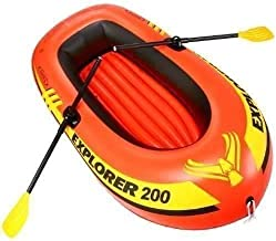 Intex Boating Set Orange 2-Person Inflatable Boat Set with French Oars and Mini Air Pump