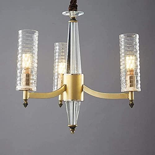 TAIDENG Luz de Techo Lámpara de Sala de Estar Moderna Chandelier Americano Sala de Estar Habitación Dormitorio Comedor Light Crystal Lighting (Size : 3lights(55 * 45cm))