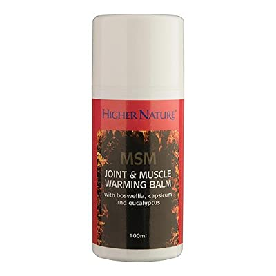 MSM Joint & Muscle Warming Balm - 100ml - Higher Nature
