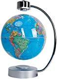 Maglev Globe 8' Anti-Gravity World Map Spinning Globe with Touch Control LED Light with Metal Base Creative Home Office Decoration