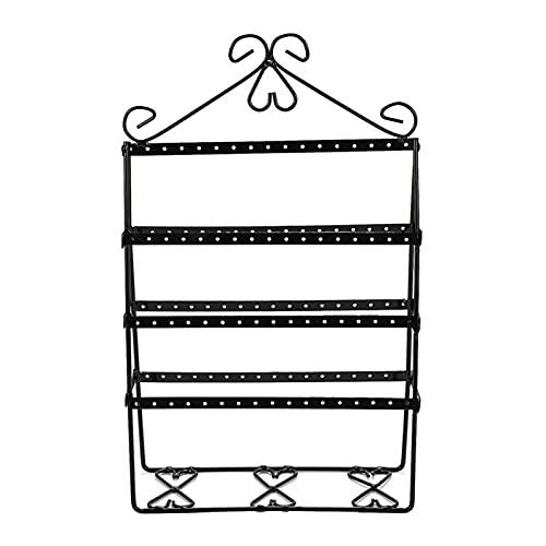 Harilla Organizador de pendientes soporte de exhibición de Joyas, soporte de pendientes de 4 niveles para colgar pendientes de Metal gran almacenamiento - Negro