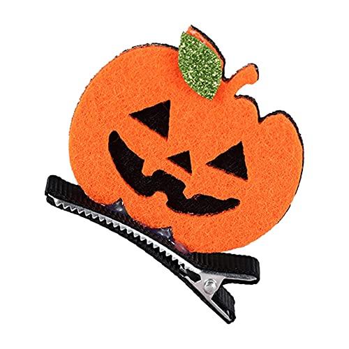 wojonifuiliy Halloween Dekorationen-Haarnadel für Kinder - Ghost Day Haarnadeln Make-up Haarspangen Dress up Fledermaus Kürbis Schädel Kopfschmuck für Themen-Partydekoration (A)