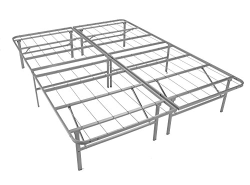 Mantua Premium Platform Base in Silver, Fits Full XL Mattress, Replaces Box Spring and Bed Frame,...