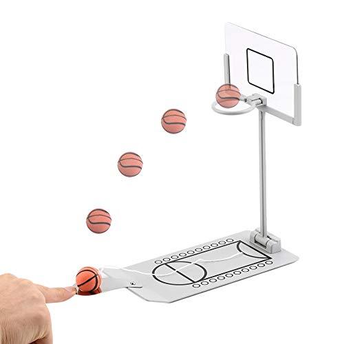 Hancoc Kreative Desktop Micro-Mini Klapp Basketball Maschine Desktop Finger Shooting Maschine Freizeit Dekompression Sport