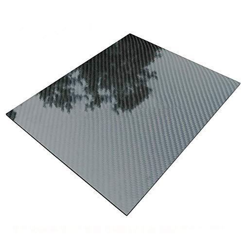Dumadf Carbon-Faser-Platten, 3K Köperbindung aus 100% Carbon-Faser-Platte Panel-glänzende Oberfläche, 300x400mm,Thick4mm