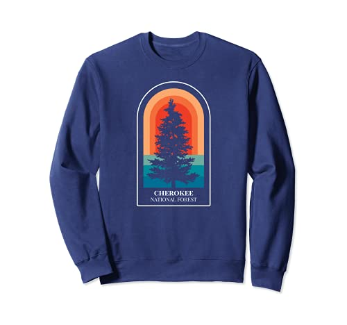 Retro Cherokee National Forest Tennessee Hiking Sweatshirt