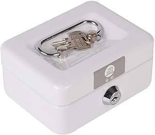 JPVGIA Medical Container Lockable Medication Box Organizer Small Medicine Lock Box with Compartments Childproof Prescription Storage Box (Color : White)