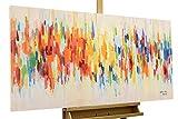 Kunstloft® Cuadro en acrílico 'Weekend Happiness' 120x59cm   Original Pintura XXL Pintado a Mano sobre Lienzo   Manchas de Colores Estampado Multicolor   Cuadro acrílico de Arte Moderno con Marco