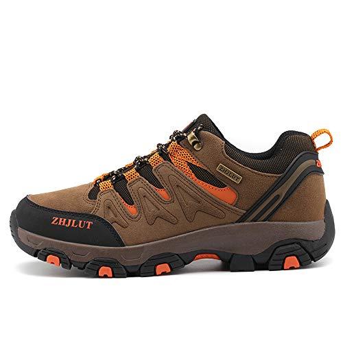BOTEMAN Herren Damen Wanderschuhe Trekking Schuhe Outdoor Anti-Rutsch Wanderstiefel atmungsaktiv Wandern Hiking Sneaker,Braun,39 EU