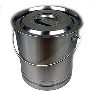 Edelstahleimer 8,5 Liter Milcheimer Lebensmittel Wassereimer Tränkeeimer