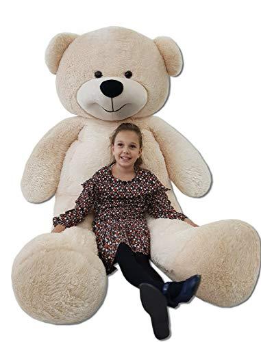 Odolplusz Teddybär 220cm GIGANT Groß Teddy Bear Plüschbär Stofftier Kuscheltier Plüschtier XXL , beige