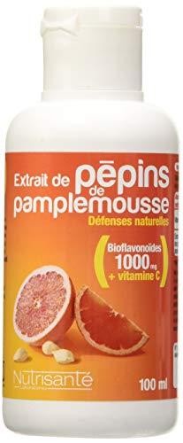 Nutrisanté - Extrait de Pépins de Pamplemousse Epp + Vitamine C : Défenses Naturelles • 100 Ml • Concentré en Bioflavonoïdes