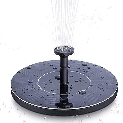 YOHAPPY Bomba de Agua Solar para Fuente de jardín, 1,4 W, Bomba de Agua Solar para pecera, pájaros, Estanque, Piscina, decoración de jardín