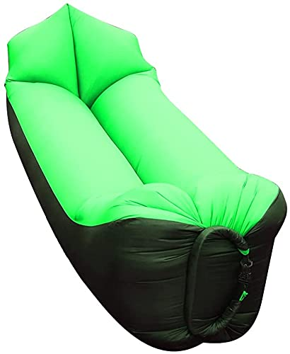 Sofás hinchables para Sofá de aire ideal de la tumbona inflable, silla de acampar anti fugas de sofá inflable para al aire libre, lago portátil de hombrecón con captadoras de compresión Acceso