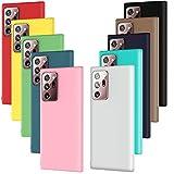 ivoler 10x Hülle für Samsung Galaxy Note 20 Ultra (5G), Ultra Dünn Tasche Schutzhülle Weiche TPU Silikon Handyhülle Hülle (Schwarz, Grau, Dunkelblau, Himmelblau, Blau, Grün, Rosa, Rot, Gelb, Braun)