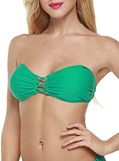 Bandeau Bikini Top Sexy Halter Swimsuit Two Piece Bathing Suits Top for Women