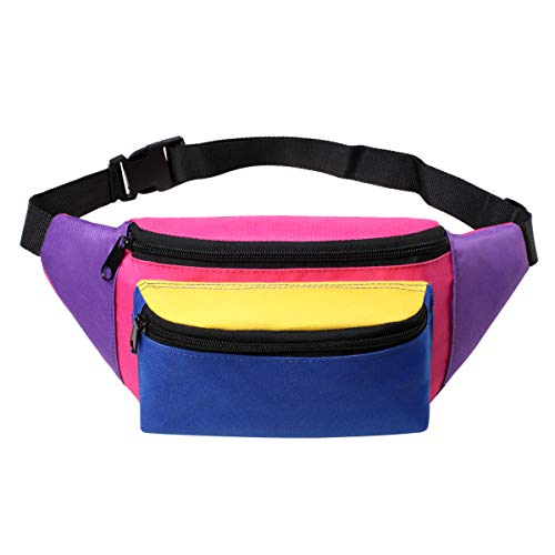 MIAIULIA 80s Neon Waist Fanny Pack for 80s Costumes,Festival Travel Party #Other