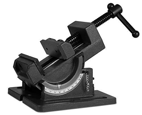 ybaymy 万力 卓上 ボール盤 アングルマシンバイス 最大開口110mm 左右0〜90度回転角度調整可能 U型 ボール盤をフライス盤や旋盤に 作業台 精密バイス