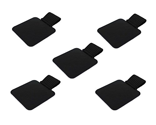 yueton 5pcs Self-Adhesive Leather Pen Holder with Elastic Loop for Notebooks, Journals, Planners and Calendars