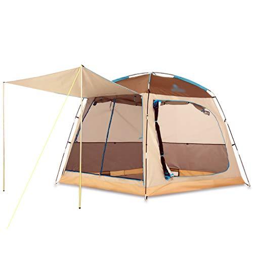Lian Camping tent buiten 4-5 personen camping zonnescherm Beach tent 2 deuren en 2 ramen grote ruimte Comfortabel en ademend